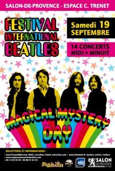 Affiche une journée avec les Beatles 19 septembre 2015 Salon de Provence