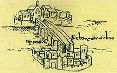 Ciudad medieval: representación de la villa medieval de Miranda de Ebro (1487)