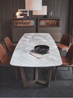 table with Cenere oak structure, Calacatta Oro marble top. Concorde table with Cenere oak structure, Calacatta Oro marble top. - Dining table table with Cenere oak structure, Cala.