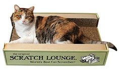 The Original Scratch Lounge - Worlds Best Cat Scratcher - (Includes Catnip) - Scratch Lounge revolutionizes cat-scratch technology by introducing the first two-sided scratcher! This one-of-a-kind desi...