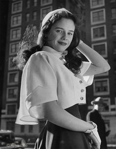 1940s college style-White pique jacket and hat- Madeline Balcar