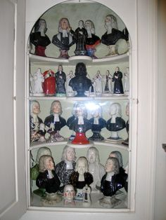 collection of John Wesley busts found at The New Room in Bristol