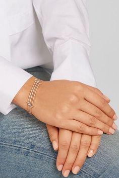 Tiffany & Co. - T Smile 18-karat White Gold Diamond Bracelet