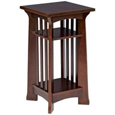 Our charming Arts and Crafts style plant stand has a warm espresso finish and features a surprising amount of space for display. Arts and Crafts design plant stand and accent table. Arts And Crafts Furniture, Art Furniture, Furniture Projects, Wood Projects, Furniture Design, Craftsman Style Furniture, Mission Style Furniture, Prairie Style Houses, Woodworking Inspiration