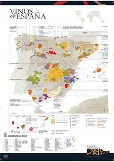 Las denominaciones de origen del vino en España Fuente: http://infografiasencastellano.com/2012/02/08/las-denominaciones-de-origen-del-vino-en-espana-infografia-infographic/