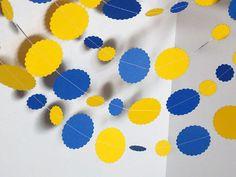 Paper GarlandBirthday GarlandBlue and Yellow by ShopatLilys