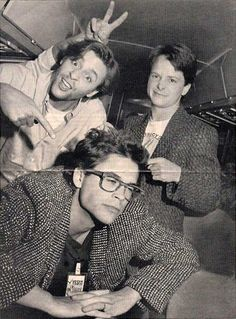 Judd Nelson, Michael J. Fox and Rob Lowe