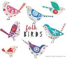 folk style birds - Google Search