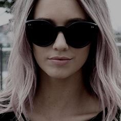 cateye glasses :]