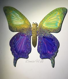 Hand Painted Wooden Butterfly Wall Decor,Baby Room Decor,Child Room Decor,Blue Butterfly Plaque,Explosion of Colors Wall Decor,Wall Plaque by FingerMagic on Etsy https://www.etsy.com/listing/266293774/hand-painted-wooden-butterfly-wall