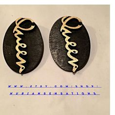 Afrocentric Wood Earring Wood Queen  Hoop by nubiansensations