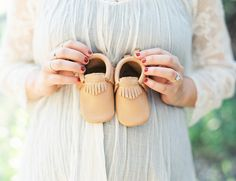 Freshly Picked baby moccasins awaiting for baby Zanden to arrive
