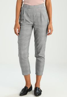 e7ce2ee1cf1f1 New Look WOW PULL ON CHECK TROUSER - Stoffhose - black pattern - Zalando.de