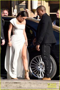 2016 Kim Kardashian & Kanye West Make Elegant Entrance at Italian Gala