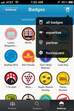 Badge List from foursquare › PatternTap