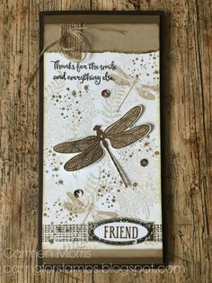 Stampin' Up! ~ Dragonfly Dreams Bundle includes stamp set and thinlit dies Stampin Up Anleitung, Stampin Up Karten, Bee Cards, Stamping Up Cards, Butterfly Cards, Tampons, Card Tags, Greeting Cards Handmade, Homemade Cards