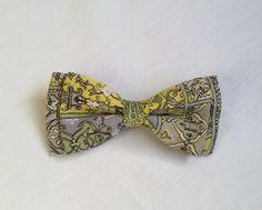 Mens Bow Tie Vintage Print  Vintage Bow Tie by KristineBridal, $37.41