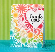 Rainbow masked card, by Jennifer McGuire (video tutorial)