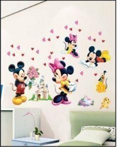 HL5621 MICKEY MOUSE MINNIE MOUSE CHILDRENu0027S ROOM DECOR WALL STICKER 70cm X  50cm , Http: Nice Ideas