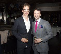 City Social: Jason Atherton & Benedict Cumberbatch at the launch party - London #JasonAtherton #CitySocial #BenedictCumberbatch #restaurant #Tower42 #party