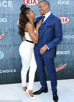 Getting friendly: Taraji and Terrence seem to have a good relationship with one another as he made her laugh on the red carpet