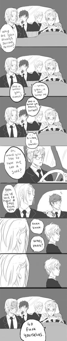 APH comic: knock knock by hakuku<<that's is hilarious good job Arthur