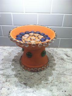 3 Cheers For Animals- Birdbath. Great project for personal birdbaths for each girl to take home.
