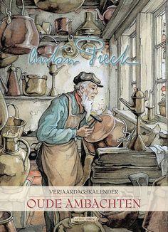 Verjaardagskalender AP Oude Ambachten Cover (1) Anton Pieck, Fairytale Art, Dutch Painters, Children's Picture Books, Rainbow Art, Dutch Artists, Drawing S, Vintage Art, Illustrations Posters