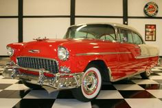 Eddie & Sharron Chandler& 1955 Chevrolet Bel Air Sport Coupe Selling at No . 1955 Chevy Bel Air, 1955 Chevrolet, Chevrolet Bel Air, Old Classic Cars, Vintage Cars, Antique Cars, Old Cars, Dream Cars, Paradise City