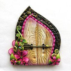 Elf Bolt Arrow Fairy Door Miniature Polymer Clay by Claybykim