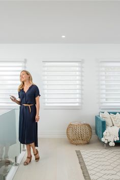 Luxaflex Pirouette Shadings with PowerView Motorisation, Three Birds Renovations House 6