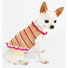 Unique Crochet Warm Dog Clothes Small Pink Puppy by myknitt