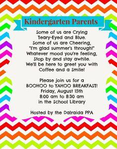 Dalraida Elementary: Panther Pride Association: BooHoo to Yahoo Breakfast!