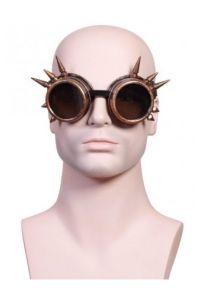 Steampunk Goggles mit Spikes - bronze