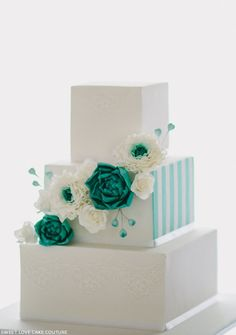 #TiffanyBlue #teal #turquoise #white #wedding #cake … Budget wedding ideas for brides, grooms, parents & planners ... https://itunes.apple.com/us/app/the-gold-wedding-planner/id498112599?ls=1=8  plus tips on how to have a dream wedding, within any budget ♥ The Gold Wedding Planner iPhone App ♥  #wedding #ceremony #reception #bride #bridesmaids #groom #groomsmen #bouquets #dresses #rings