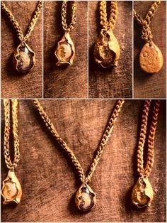 Clay Art, Gold Necklace, Pendants, Handmade, Jewelry, Gold Pendant Necklace, Hand Made, Jewlery, Jewerly