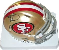 SOLD OUT! Donte Whitner signed SF 49ers Riddell football mini helmet w/ proof photo.  Proof photo of Donte signing will be included with your purchase along with a COA issued from Southwestconnection-Memorabilia, guaranteeing the item to pass authentication services from PSA/DNA or JSA. Free USPS shipping. www.AutographedwithProof.com is your one stop for autographed collectibles from San Francisco sports teams. Check back with us often, as we are always obtaining new items.