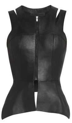 Want a Game of Thrones look? Try a BCBG Max Azria leather cutout vest