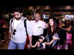 Aishwarya Rai & Abhishek Bachchan with their daughter Aaradhya spotted at Mumbai airport. Aishwarya Rai Latest, Mumbai Airport, Hd Video, Gossip, Interview, Daughter, Photoshoot, Music, Youtube