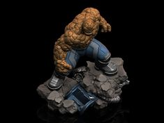 "ArtStation - Ben Grimm ""The Thing"", Earl Vincent Kasilag Fantastic Four, Grimm, Sculpting, Scale, Animation, Artwork, Iron Man, 3d, Toys"
