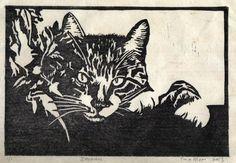 Zebadee lino print by TinasPrints on Etsy, $50.00