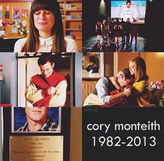 We will never forget you, Cory. Thank you for all of your talent and joy, and all that you brought to Glee.