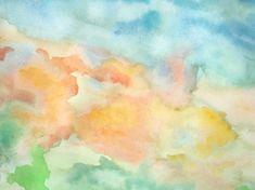 Abstract Watercolor Sky – trendikäs valokuvatapetti – Photowall