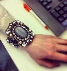 Jeweled cuff #fashion #accessory