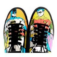 DC Comics Sneakers!!! Great for any outfit in order to be comfy. You could even wear a superhero outfit, but still wear these with it. Stylin'!