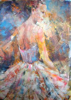 Ballet Dancer in White - London Dance Art Gallery