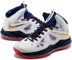 info for 3a030 82d87 Now Buy Discount Nike Lebron X Mens White Navy Blue Red Save Up From Outlet  Store at Footlocker.