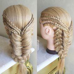 Cornrows / fishtail & Dutch braids combo More