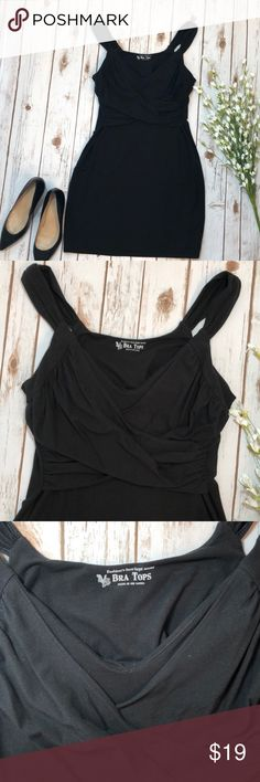 Victoria Secret black Bra Top size L This stretchy bra top dress is perfect for a night out! 17in pit to pit and 34.5 in top of shoulder strap to bottom of dress. Excellent condition! Victoria's Secret Dresses