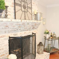 The Perfect Fireplace Makeover: Brick Limewash Tutorial - CHC Homes
